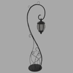 Iron street lamp