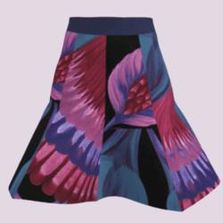 Art flower short skirt