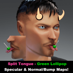 Split Tongue - Lollipop Green