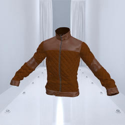 Brown with Leopoard Bomber Jacket Leather