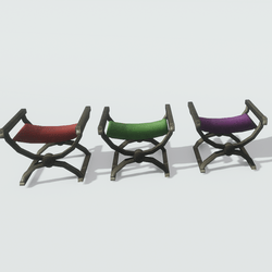 Scissor Chairs (Red, Green and Purple)