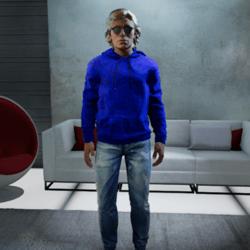 Men Blue Sweatshirt