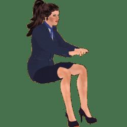 Glori beim Schreiben Animated