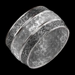 Hammered Cuff Silver