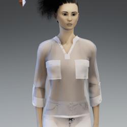 silk shirt White