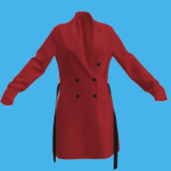 Ladies Red Trenchcoat with belt