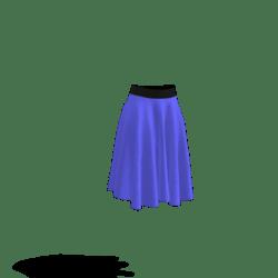 black and blue skirt