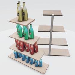 Liquor Xmas Tree Shelf  Version 2