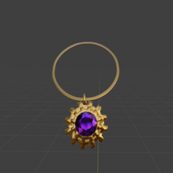 Steampunk Gear and Amethyst Necklace