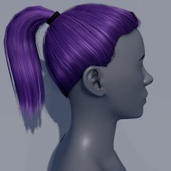 Hair - Pony Tail - Purple