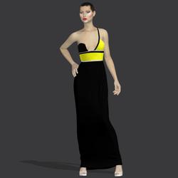 """Gilda black yellow """" Elisea Carter"""""""