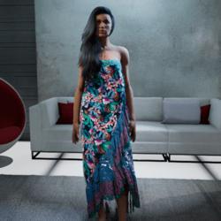 Polynesian Wrap Dress #5