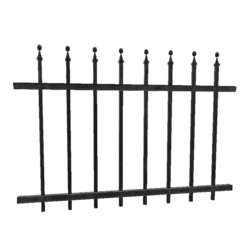 Wrought Iron Fence - 2m