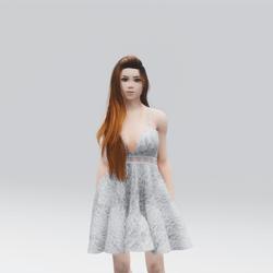 Kawaii White Laced Mini  Summer Dress