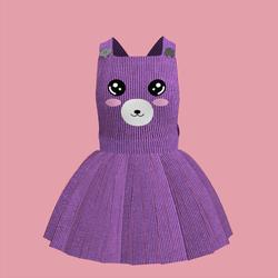 Corduroy Bear Overall Dress 02