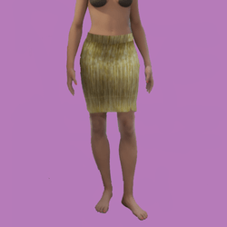 Aria skirt gold