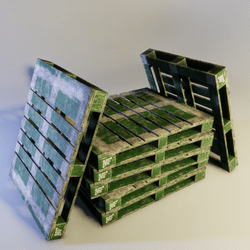 Green Painted Pallet
