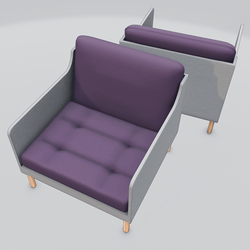 Chronicle Lounge Chair Purple
