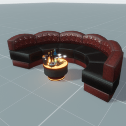 Club Seat Modular Circle Set