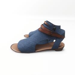 AV 2.0  Open toe textile sandals - blue