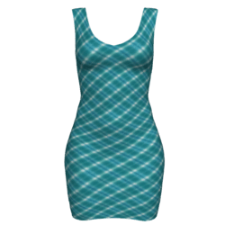 Woman Simple Dress - Plaid