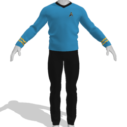AV2 - Vintage Star Trek Suit Blue