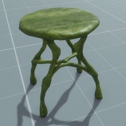 Stool round mossy
