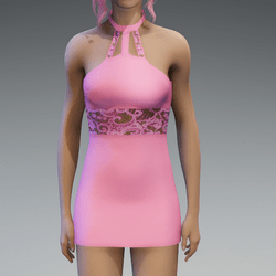 Pastel Pink Lace Partydress