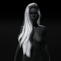 Heather - Long Side Swept Hair