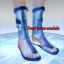 Dani sandals -jeans-perfect rigged in blender