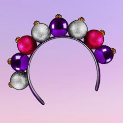 Ornaments Headband Pink Violet Silver