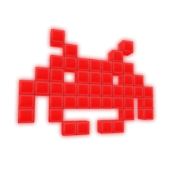 Invader Lamp Red [Animated]