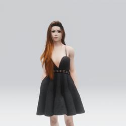 Kawaii Grey Laced Mini  Summer Dress