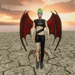 Demon Wings Float Animation (Female)