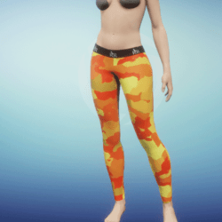 Leggings Camo orange