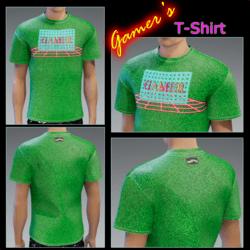 Male - Gamer's T-Shirt Cool-Green