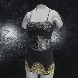 Dress Metallic Ornament black