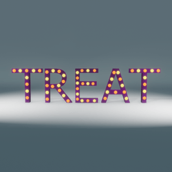 Treat Marquee Blinking Sign