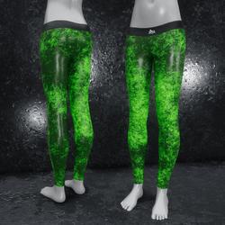 Leggings Fractal Leather green