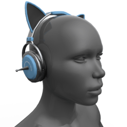 Headphones Black-Blue (Head)