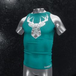 Sleeveless Shirt deer turquoise