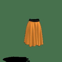 orange and black skirt