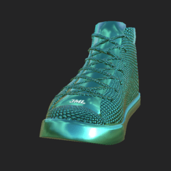 DIAMOND SNEAKERS UNISEX CYAN