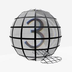 Planetarium Dome - Low poly version
