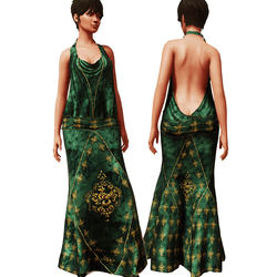 1920's Gown GREEN