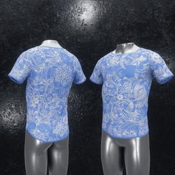 Shirt Ornament blue