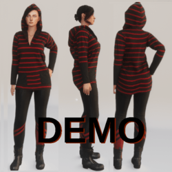 DEMO - Stripped hoodie - DEMO