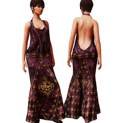 1920's Gown Burgundy