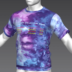 Ready Player One: Leaderboard T-Shirt (Tiedye) (M)