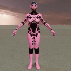 Sci-Fi Female Cyber Robot-pink